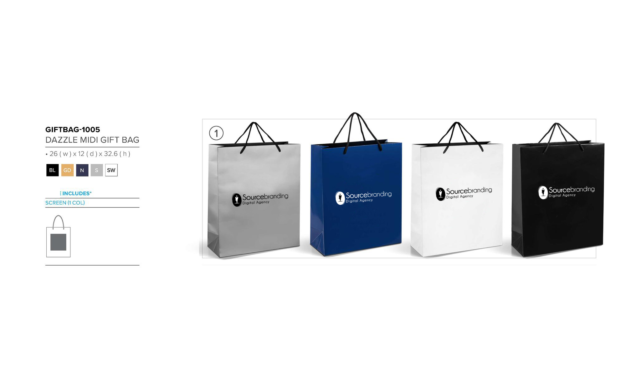 Sourcebranding gift bag