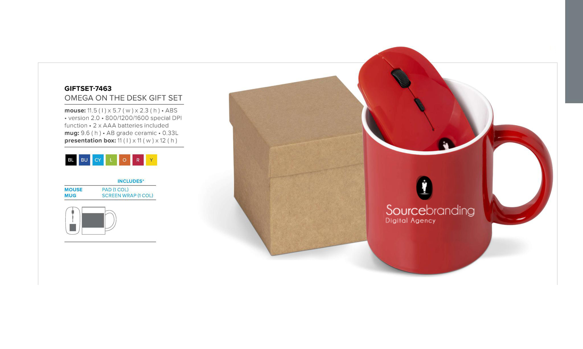 Sourcebranding mouse mug presentation box