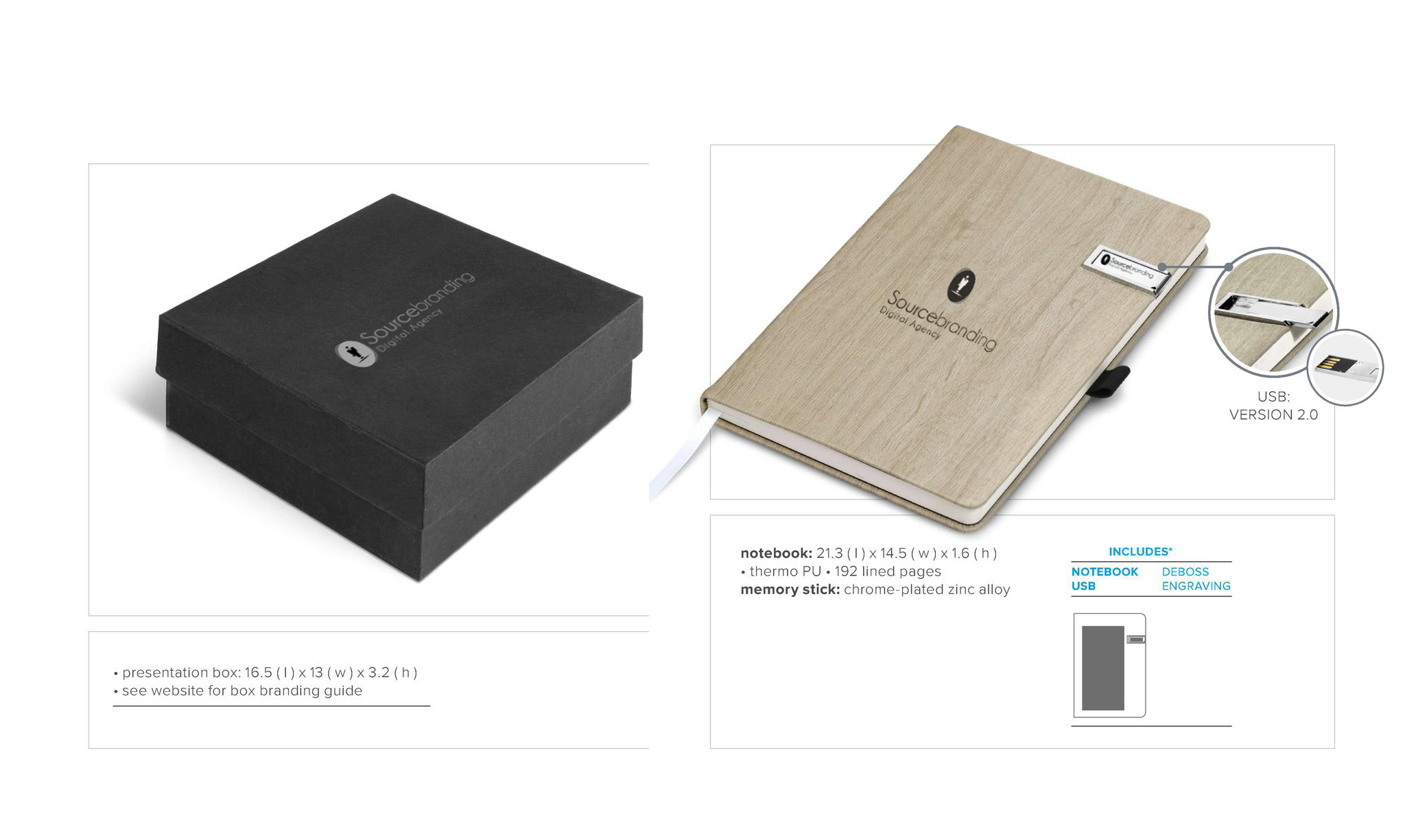 Sourcebranding presentation box